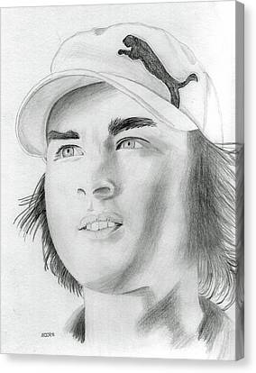 Rickie Fowler Canvas Print by Pat Moore