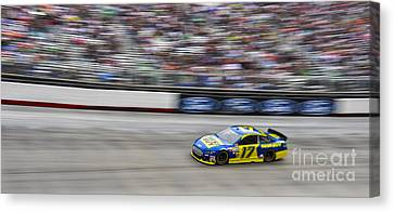 Ricky Stenhouse Jr. Racing At Bristol Motor Speedway Canvas Print by David Oppenheimer