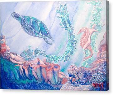 Ride Of The Kelpnymph Canvas Print by Lori Dante
