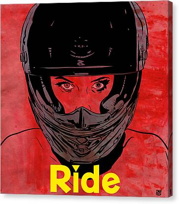 Ride / Text Canvas Print by Giuseppe Cristiano