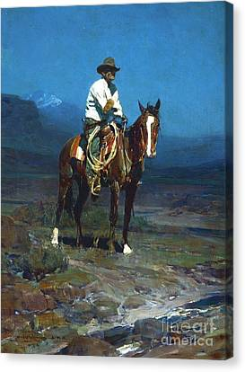 Rider Of The Sms Canvas Print by Roberto Prusso