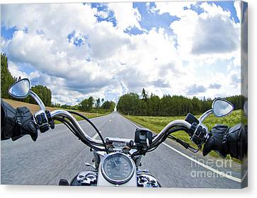 Riders Eye View Canvas Print by Micah May