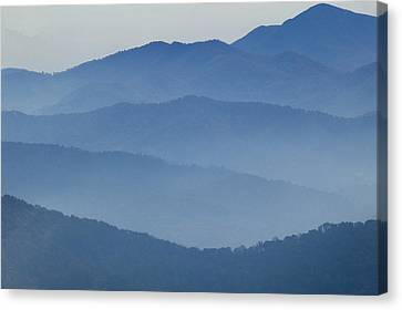 Ridgelines Great Smoky Mountains Canvas Print by Rich Franco