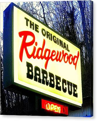 Ridgewood Barbecue Canvas Print by Gail Oliver