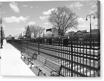 Ridgewood Nj Train Station Canvas Print by Barry Glick