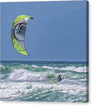 Ridin The Wind Canvas Print by Peter Tellone