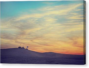 Riding Into The Sunset Canvas Print by Laurie Search
