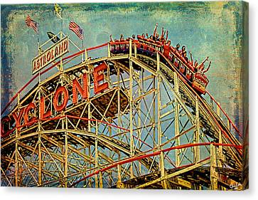 Riding The Cyclone Canvas Print by Chris Lord