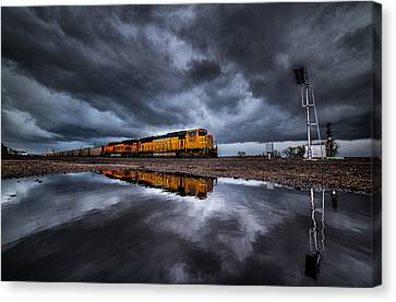 Riding The Storm Out Canvas Print by Darren  White