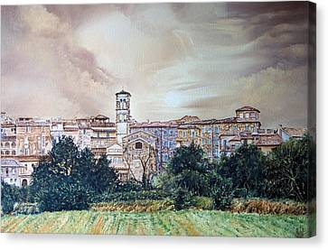 Rieti Panoramic Canvas Print by Michel Angelo Rossi