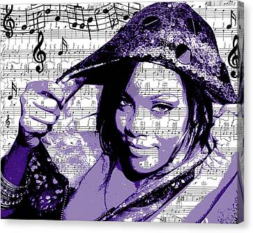 Rihanna Canvas Print by Brad Scott