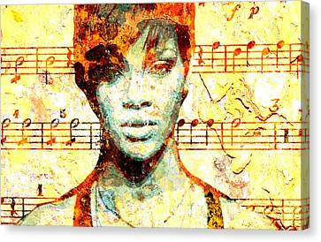 Rihanna Canvas Print by Chandler  Douglas