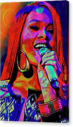 Rihanna  Canvas Print by  Fli Art