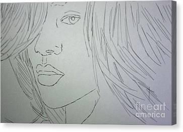 Rihanna Canvas Print by Kristen Diefenbach