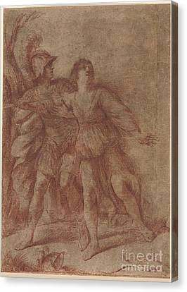 Rinaldo Stopping Armida From Suicide Canvas Print by Giovanni Francesco