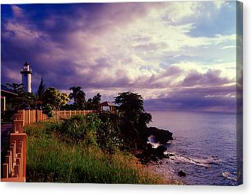 Rincon Lighthouse Puerto Rico Canvas Print by George Oze
