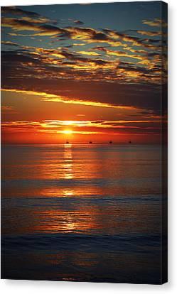 Rincon Sunset Canvas Print by John A Royston