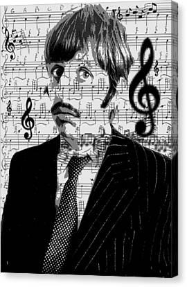 Ringo Star Of The Beatles Canvas Print by Brad Scott