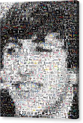Ringo Starr Beatles Mosaic Canvas Print by Paul Van Scott