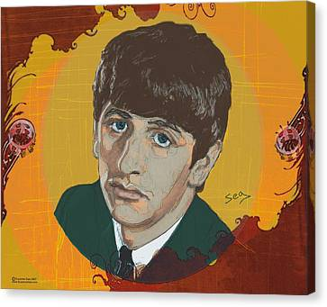 Ringo Starr Canvas Print by Suzanne Gee