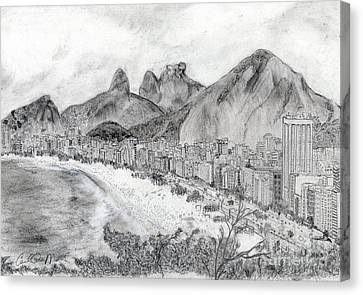 Rio De Janeiro Canvas Print by Carol Morris