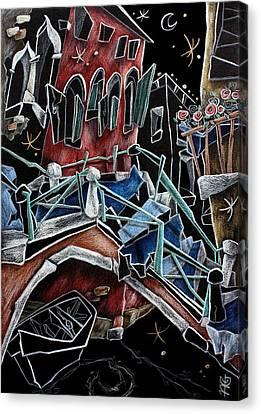 Rio Della Toletta - Contemporary Venetian Art Canvas Print by Arte Venezia