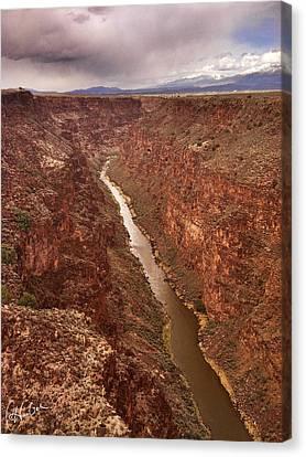 Rio Grande Gorge Canvas Print by Christine Hauber