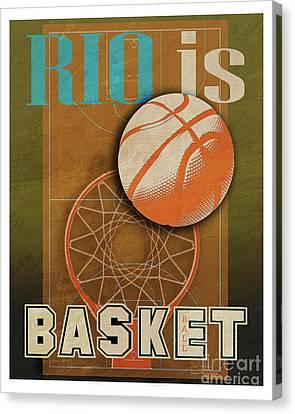 Rio Is Basketball Canvas Print by Joost Hogervorst
