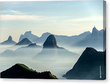 Rio Skyline Canvas Print by Mauricio Moreno