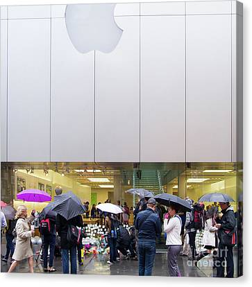 Rip Steve Jobs October 5 2011 San Francisco Apple Store Memorial Square Canvas Print by Wingsdomain Art and Photography