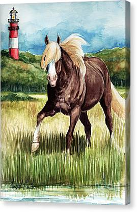 Riptide Canvas Print by Linda L Martin
