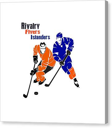 Rivalry Flyers Islanders Shirt Canvas Print by Joe Hamilton