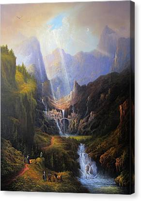 Rivendell. The Last Homely House.  Canvas Print by Joe Gilronan