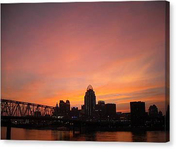 River City Canvas Print by Peter  McIntosh