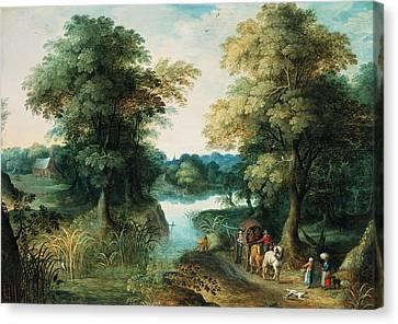 River Landscape Canvas Print by Pieter the Elder Bruegel