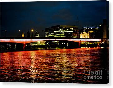 River Thames, In London Canvas Print by Cyril Jayant