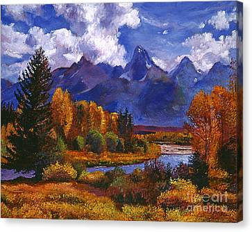 River Valley Canvas Print by David Lloyd Glover