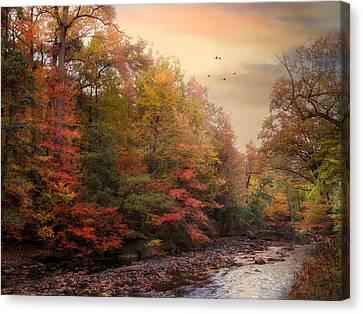 Riverbank Beauty Canvas Print by Jessica Jenney