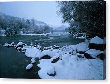 Riverside Park - Kernville California Canvas Print by Soli Deo Gloria Wilderness And Wildlife Photography