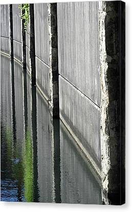 Riverwalk Reflections Canvas Print by Tony Grider