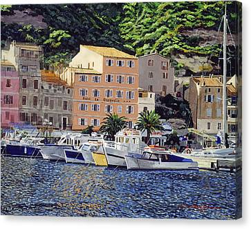 Riviera Morning Canvas Print by David Lloyd Glover
