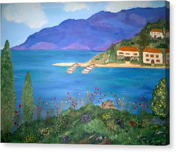 Riviera Remembered Canvas Print by Alanna Hug-McAnnally