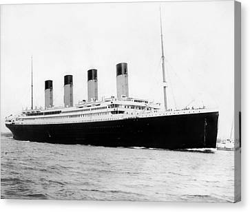 Rms Titanic Canvas Print by War Is Hell Store
