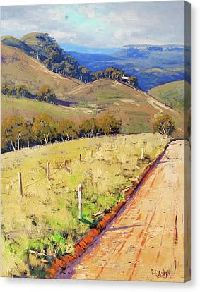 Road Into The Kanimbla Valley Canvas Print by Graham Gercken