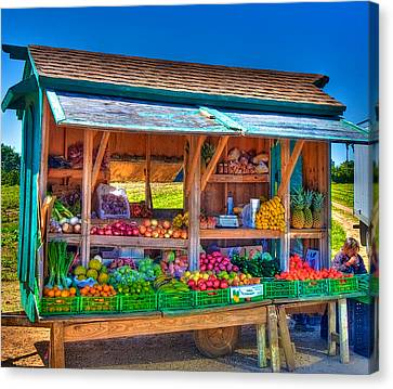 Road Side Fruit Stand Canvas Print by William Wetmore