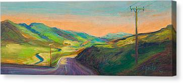 Road To Horse Tooth Canvas Print by Athena  Mantle