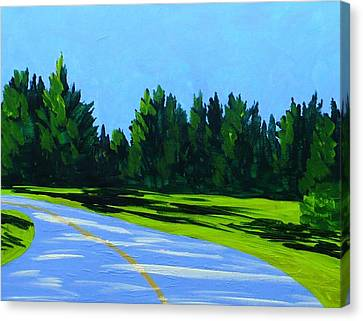 Road To Uma Canvas Print by Laurie Breton