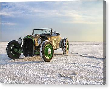 Roadster On The Salt Flats 2012 Canvas Print by Holly Martin