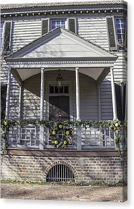Robert Carter House Porch 02 Canvas Print by Teresa Mucha
