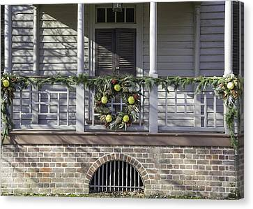 Robert Carter House Porch 03 Canvas Print by Teresa Mucha
